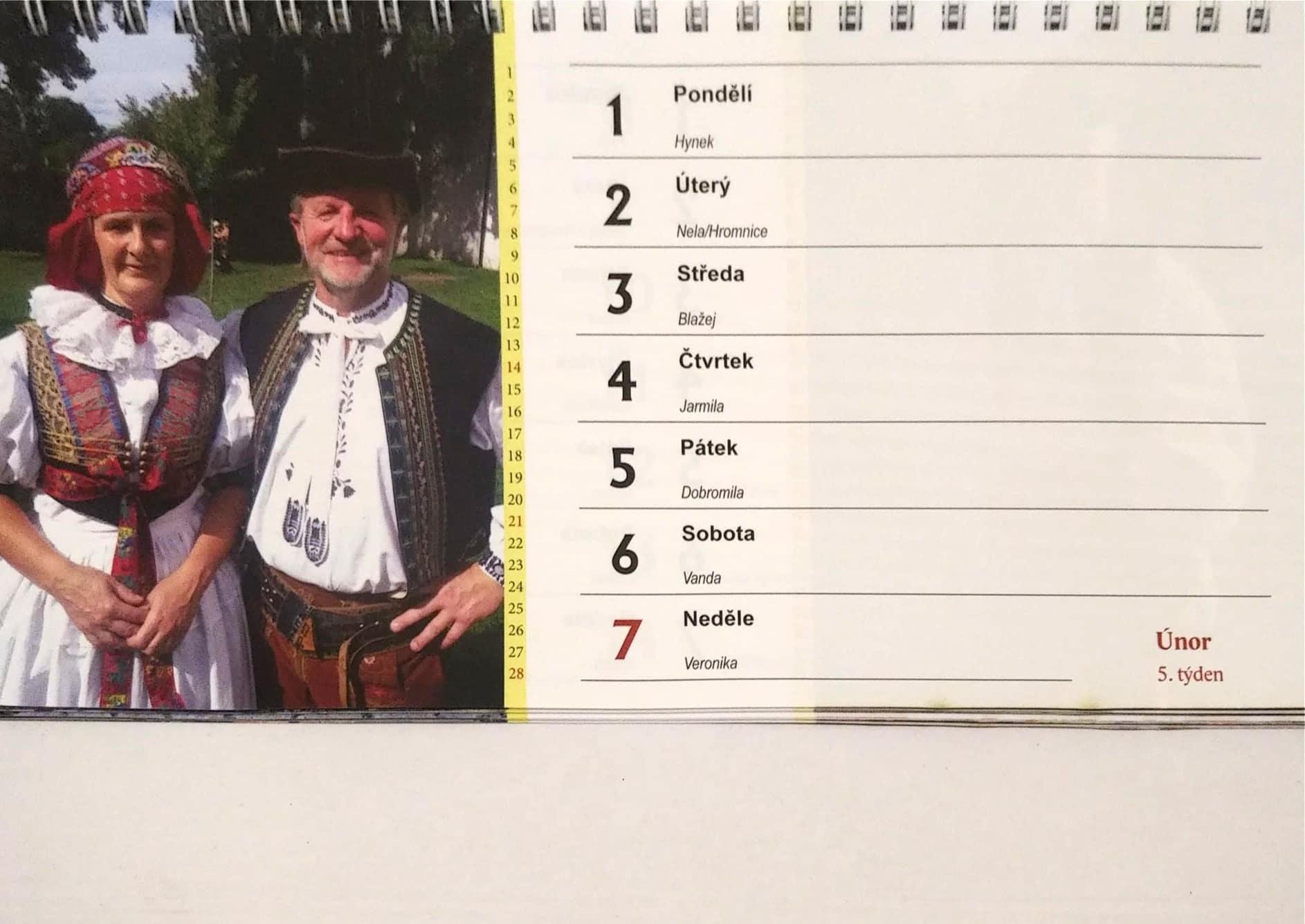 Hanácké kroje 2021 (stolní kalendář)